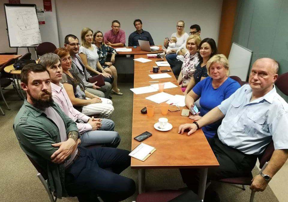 """2018 m. rugsėjo 4 d. ,,Solidarumo"""" būstinėje"""